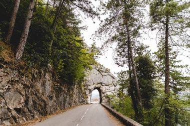 road with tunnel