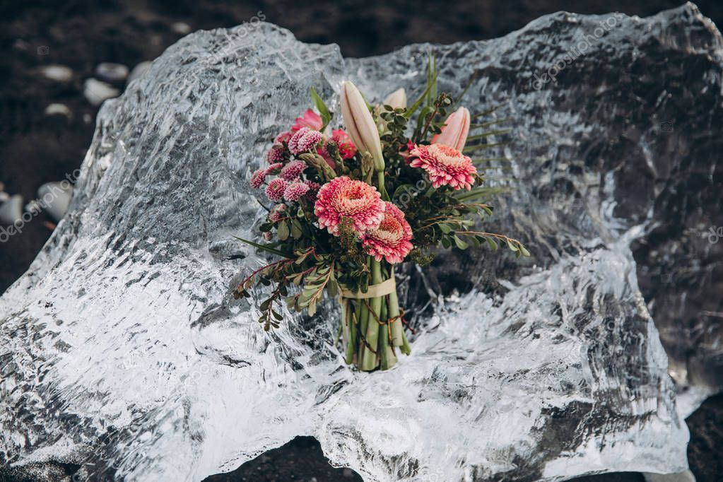 bouquet on ice