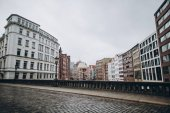 Urban-Szene mit schöne Architektur der Stadt Hamburg, Deutschland