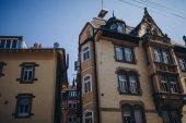 Fotografie nízký úhel zobrazení budov ve městě stuttgart, Německo