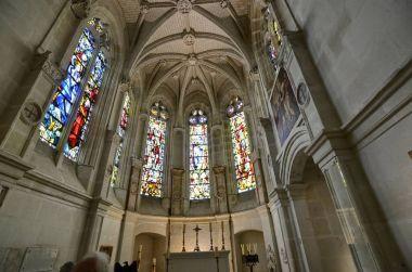 Castle of Chenonceau, Loire region, France. Shot of 27 June 2017. The chapel inside the castle