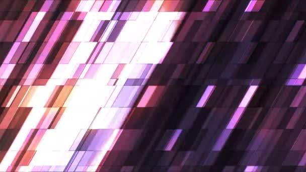 Vysílat blikající kosodélník Hi-Tech malé bary, více barev, abstraktní, Loopable, 4k