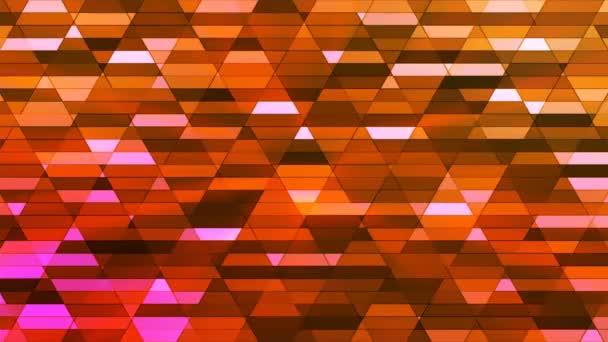 Vysílají zářící Diamond Hi-Tech malé bary, oranžová, abstraktní, Loopable, 4k