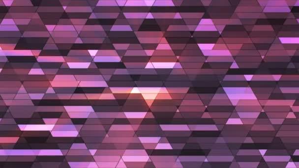 Broadcast csillogó gyémánt Hi-Tech kis bárok, lila, absztrakt, Loopable, 4k