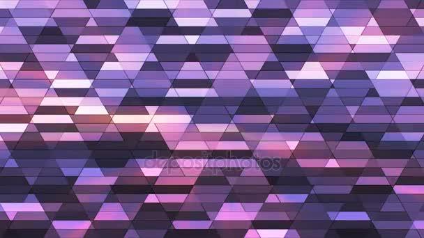 Vysílají zářící Diamond Hi-Tech malé bary, fialové, abstraktní, Loopable, 4k