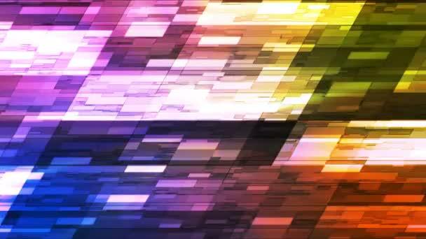 Blikající horizontální sklon Hi-Tech malé bary, více barev, abstraktní, Loopable, 4k