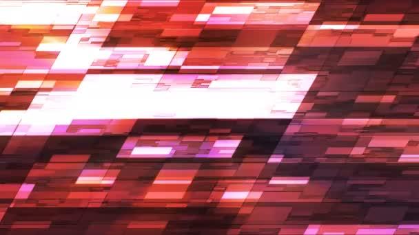 Blikající horizontální sklon Hi-Tech malé bary, oranžová, abstraktní, Loopable, 4k
