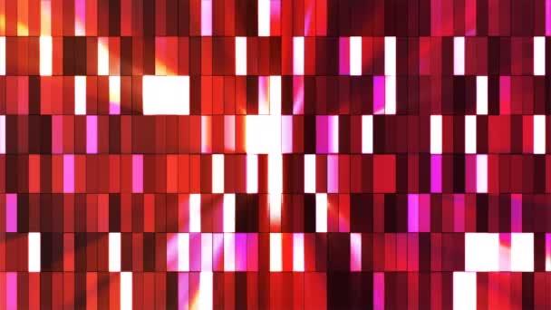 Vysílat blikající Hi-Tech malé bary, červená, abstraktní, Loopable, 4k