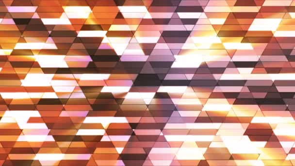 Vysílají zářící Diamond Hi-Tech malé bary, hnědé, abstraktní, Loopable, 4k
