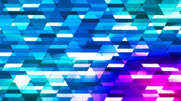 Vysílají zářící Diamond Hi-Tech malé bary, modrá, abstraktní, Loopable, 4k
