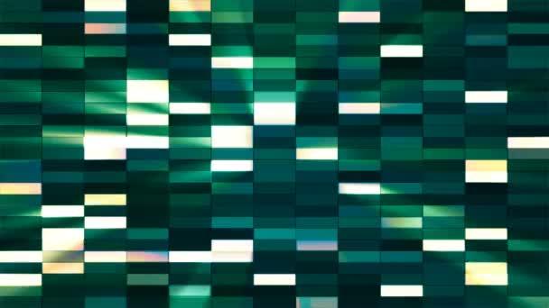 Twinkling Horizontal Small Squared Hi-Tech Bars, Green, Abstract, Loopable, 4K