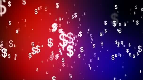 Broadcast Money Shower, Red Magenta Blue, Corporate, Loopable, 4K