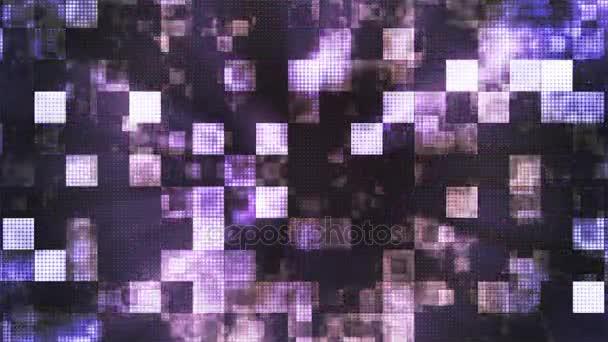 Twinkling Metal Hi-Tech Squared Smoke Patterns, Purple, Abstract, Loopable, 4K