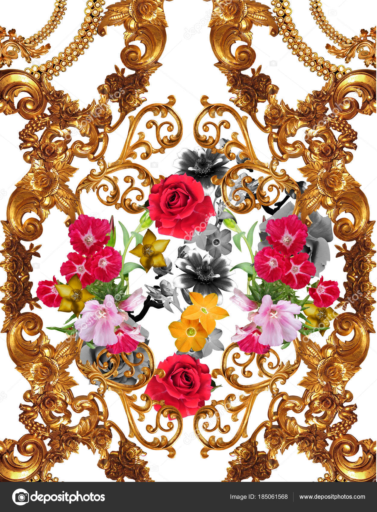 Baroque flower– stock image