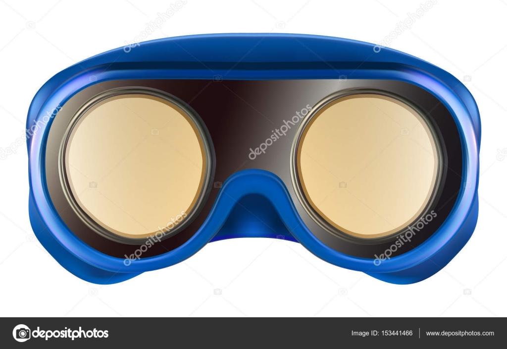 6e5ee4924c Πλαστικά προστατευτικά γυαλιά που απομονώνονται σε λευκό — Διανυσματικό  Αρχείο