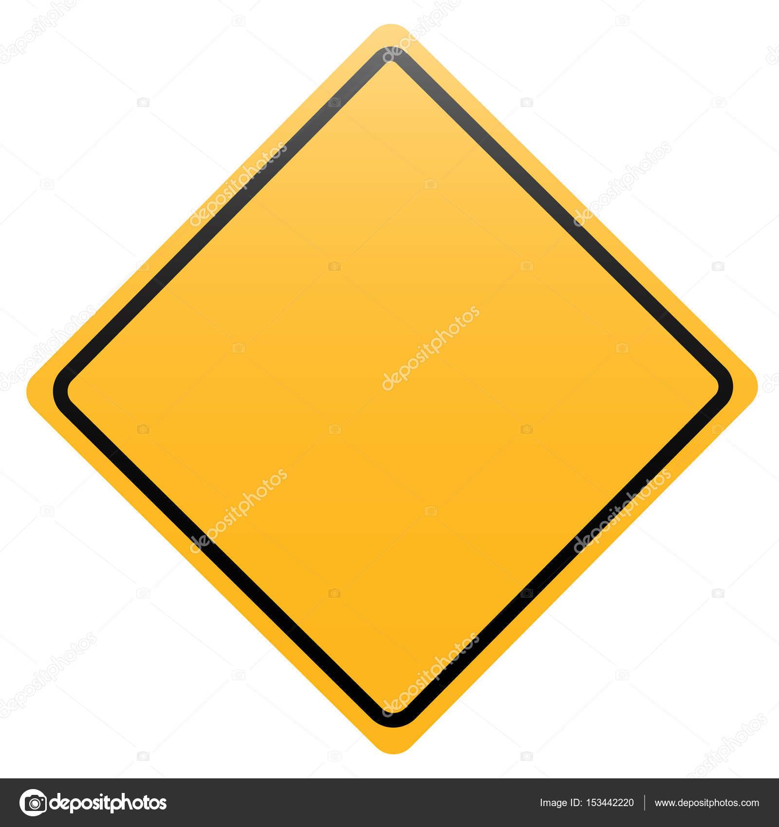 panneau de signalisation de losange jaune isol sur blanc image vectorielle boule1301 153442220