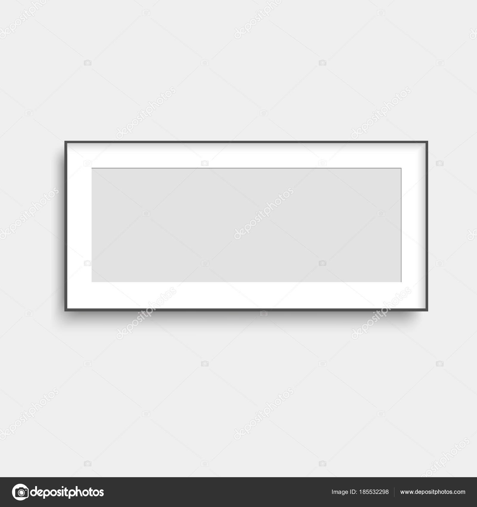 Realistic black poster frame mock up. Vector. — Stock Vector ...