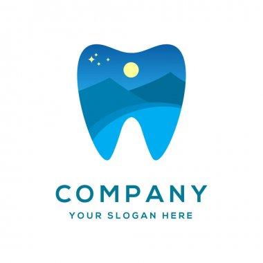 Outdoor Dental Night Logo Template