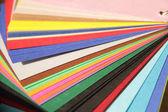 barevné papírové vzorky, variace