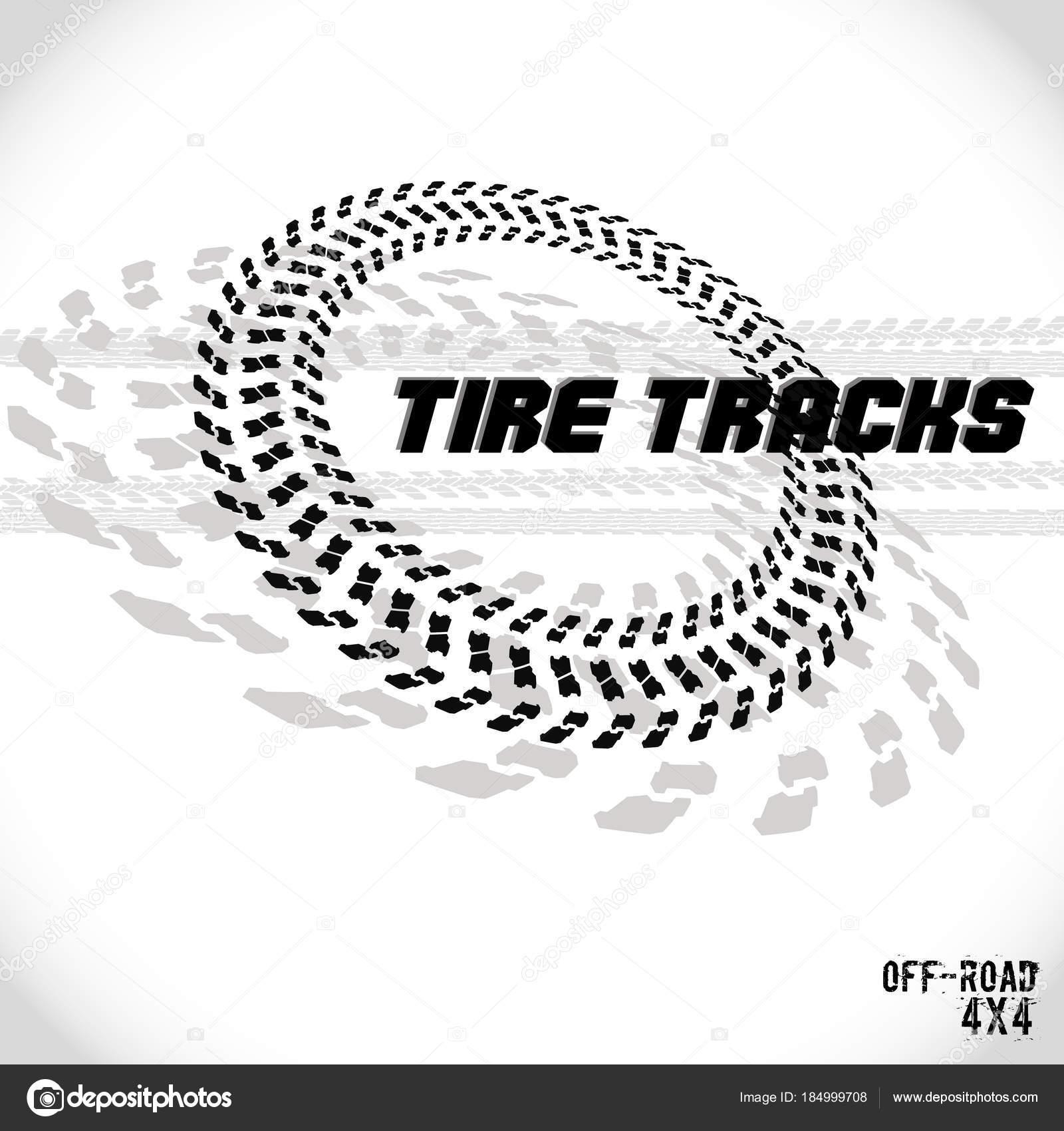 Track Logo Design Tire Track Silhouette Print Logo Design Vector Illustration Eps10 Stock Vector C Ivvivvi 184999708