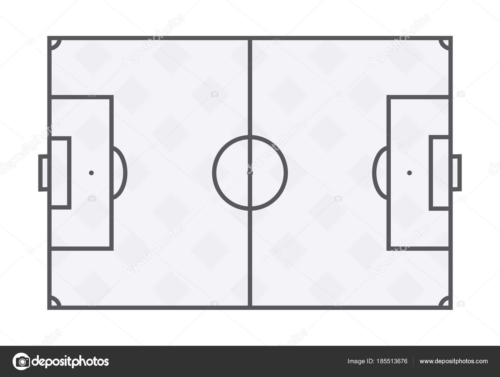 Soccer field lines on white background. — Stock Vector © Vdant85 ...