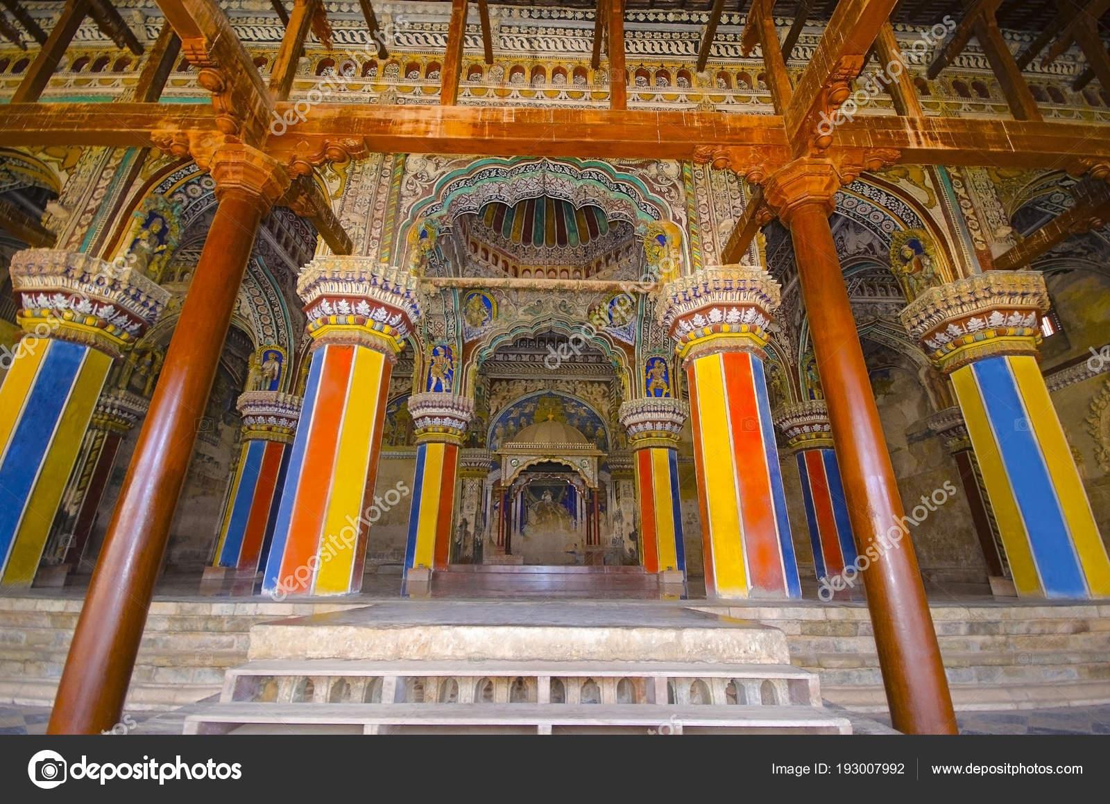 Interior of Durbar Hall, Thanjavur Maratha palace, Thanjavur