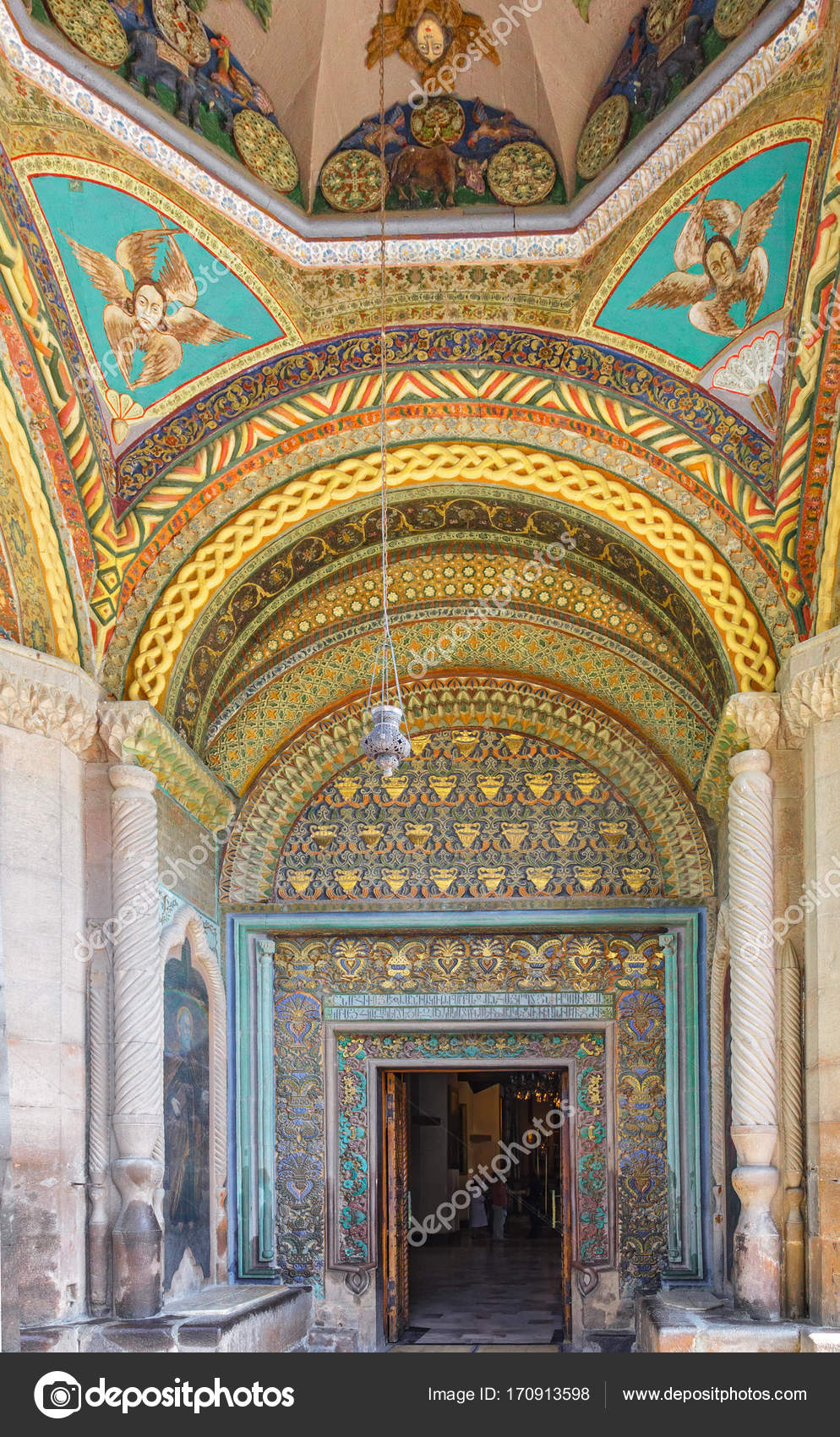 Decoration Of Entrance To The Ancient Church Of Echmiadzin Cathe
