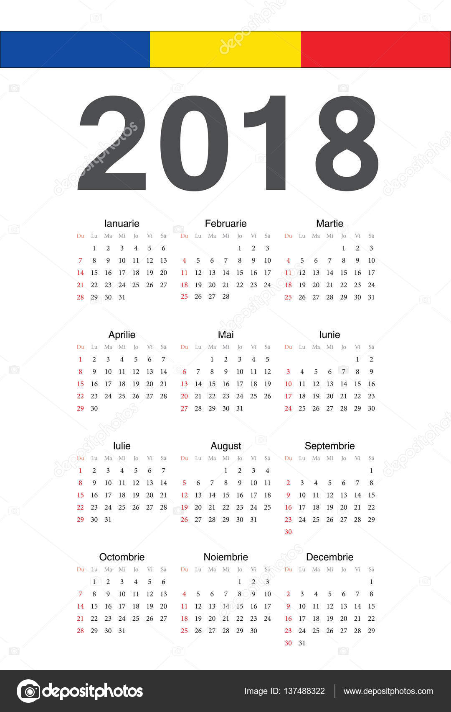 Calendario Rumeno.Calendario Rumeno