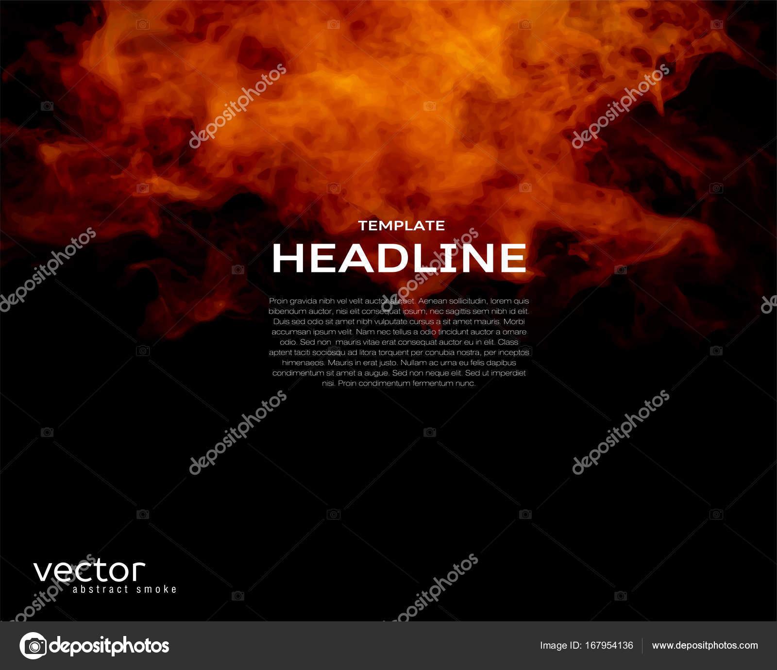 Plantilla de vector de volante con forma de fuego — Vector de ...