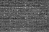 Fotografie leere Ziegelwand strukturierten Hintergrund. Nahaufnahme des Schwarz-Weiß-Bildes