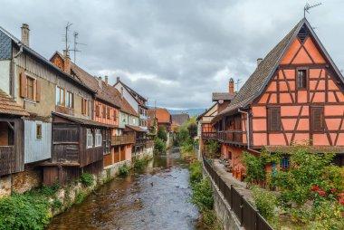 """Картина, постер, плакат, фотообои """"Weiss river in Kaysersberg, France"""", артикул 136788176"""