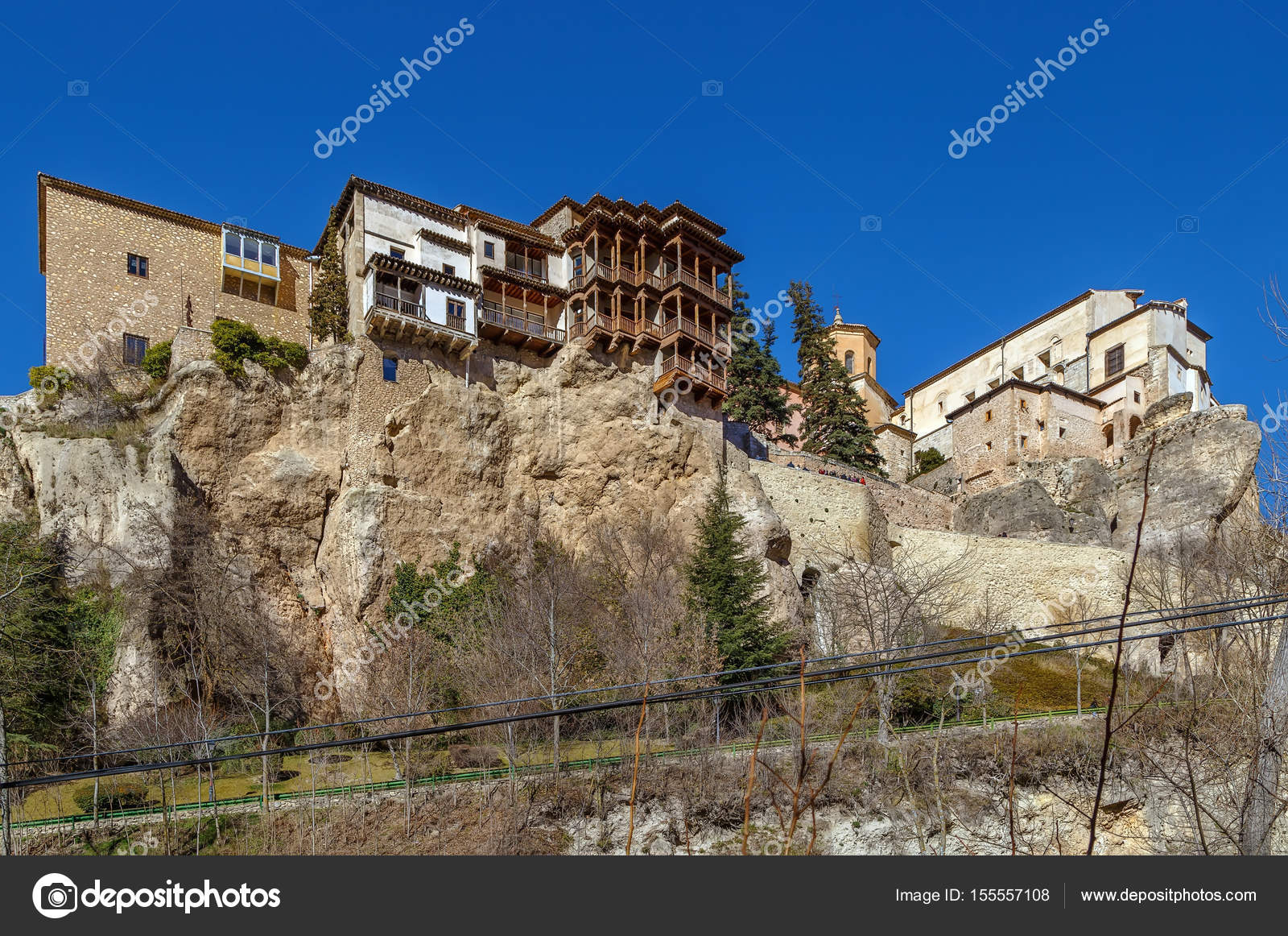 Hanging Houses Is Complex Of Houses On Rock In Cuenca, Spain U2014 Photo By  Borisb17