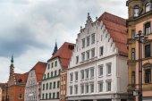 Fotografie historische Häuser in Straubing, Deutschland