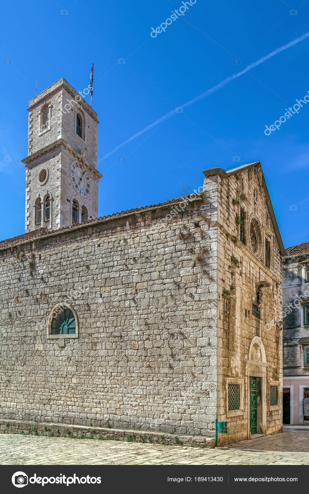 Church of st ivan sibenik croatia stock photo borisb17 189413430 catholic church of st ivan with clock tower sibenik croatia photo by borisb17 publicscrutiny Image collections
