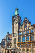 Neues Rathaus wurde Anfang des 20. Jahrhunderts in Chemnitz erbaut
