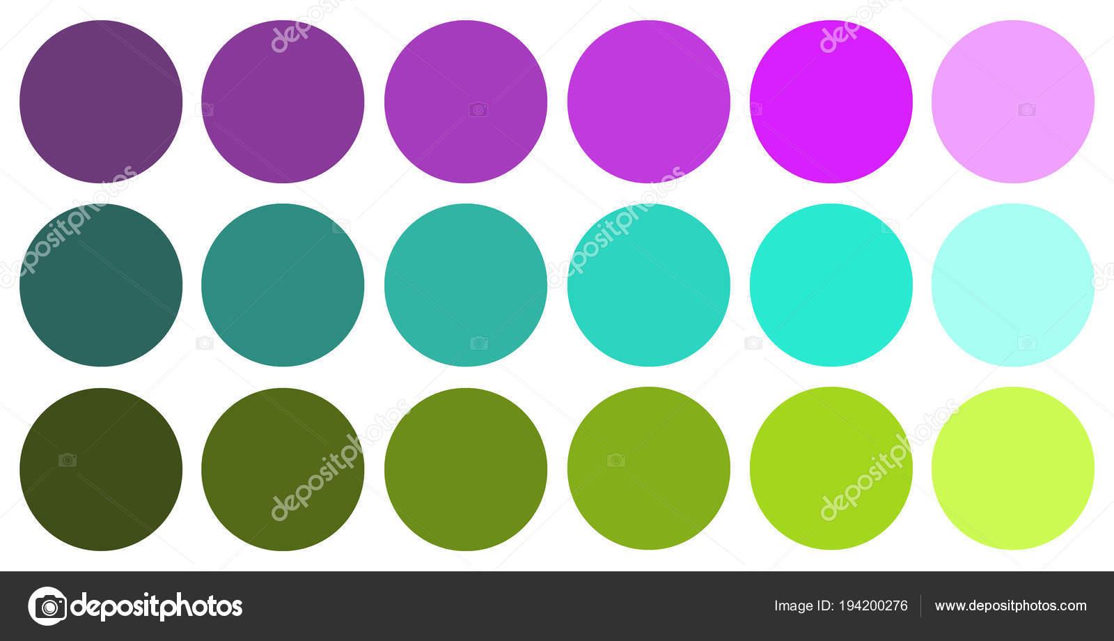 Color Palette Three Colors Green Blue Purple Colors Dark Light