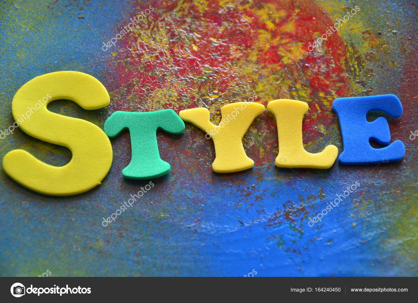 word style o na abstract stock photo