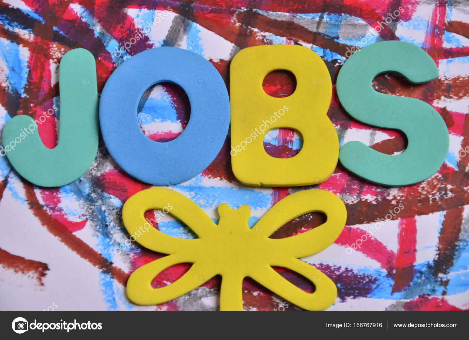 trabajos de Word en un resumen — Foto de stock © czany #166767916