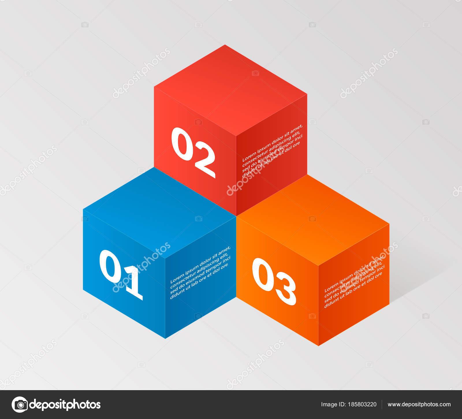 Modern isometric infographics angle elemsnts element template