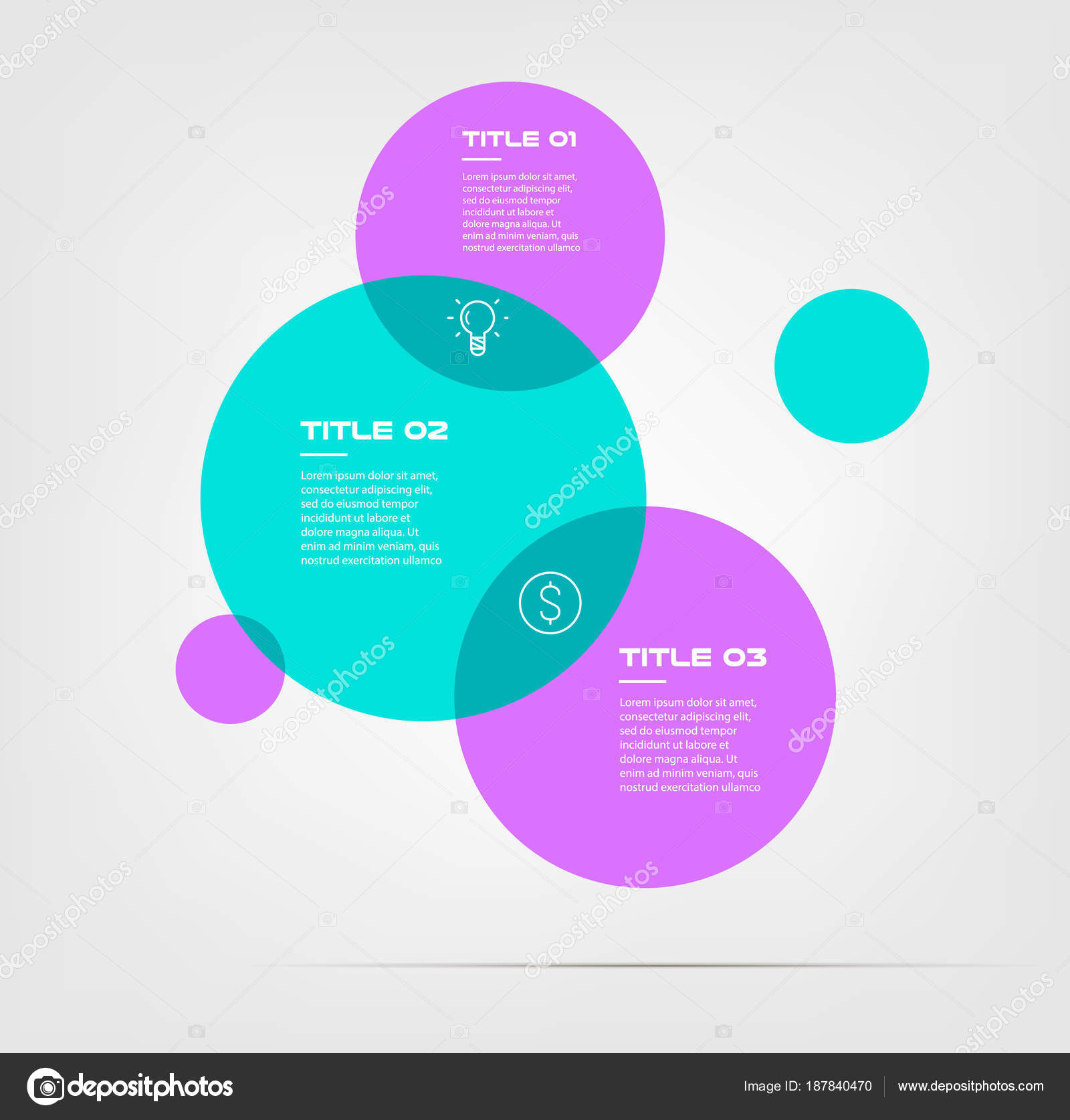 Bubble chart with elements venn diagram infographics for three bubble chart with elements venn diagram infographics for three circle design vector and marketing can be ccuart Choice Image