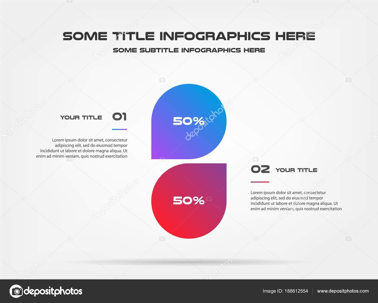 chart of percentage infographics element of graph diagram with 2