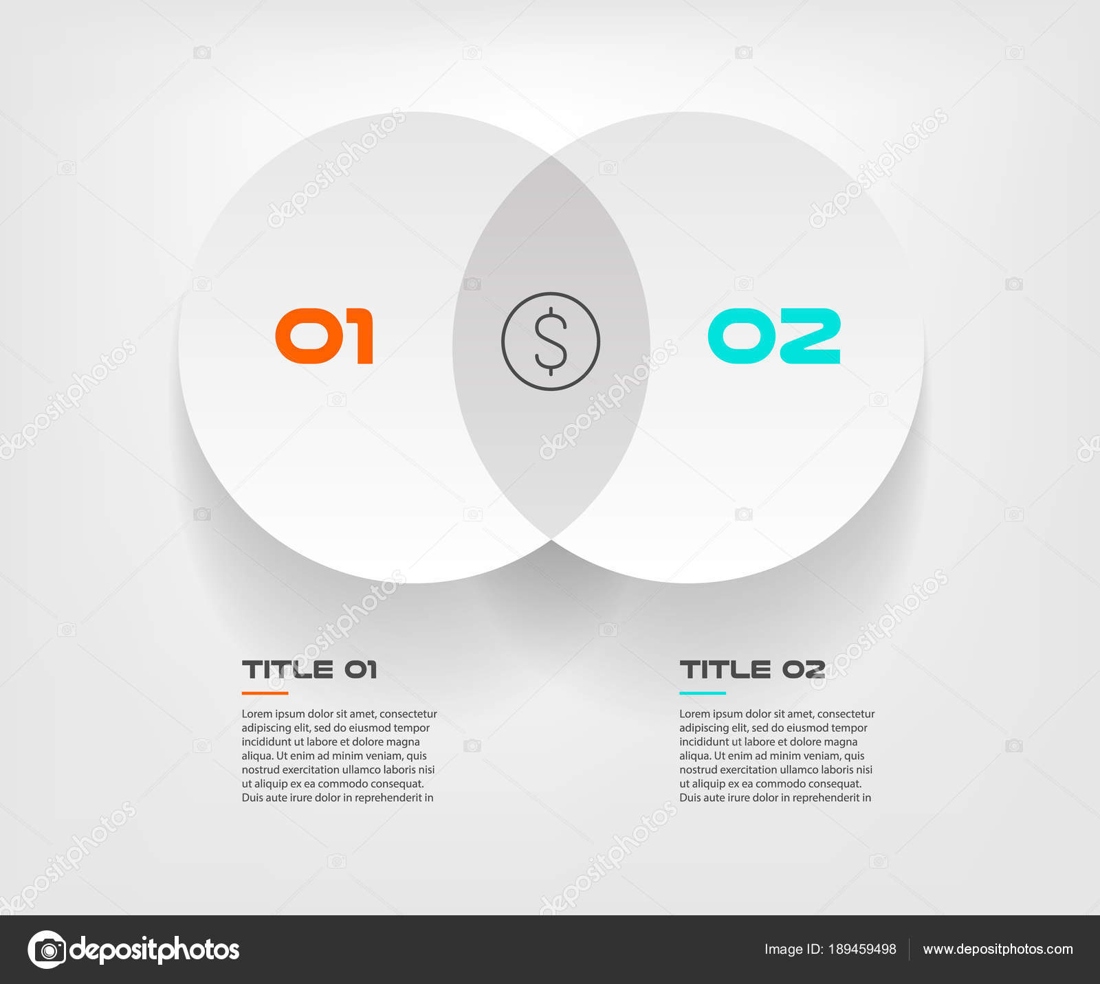 Venn diagram infographics for two circle design vector and marketing venn diagram infographics for two circle design vector and marketing can be used for workflow layout ccuart Choice Image