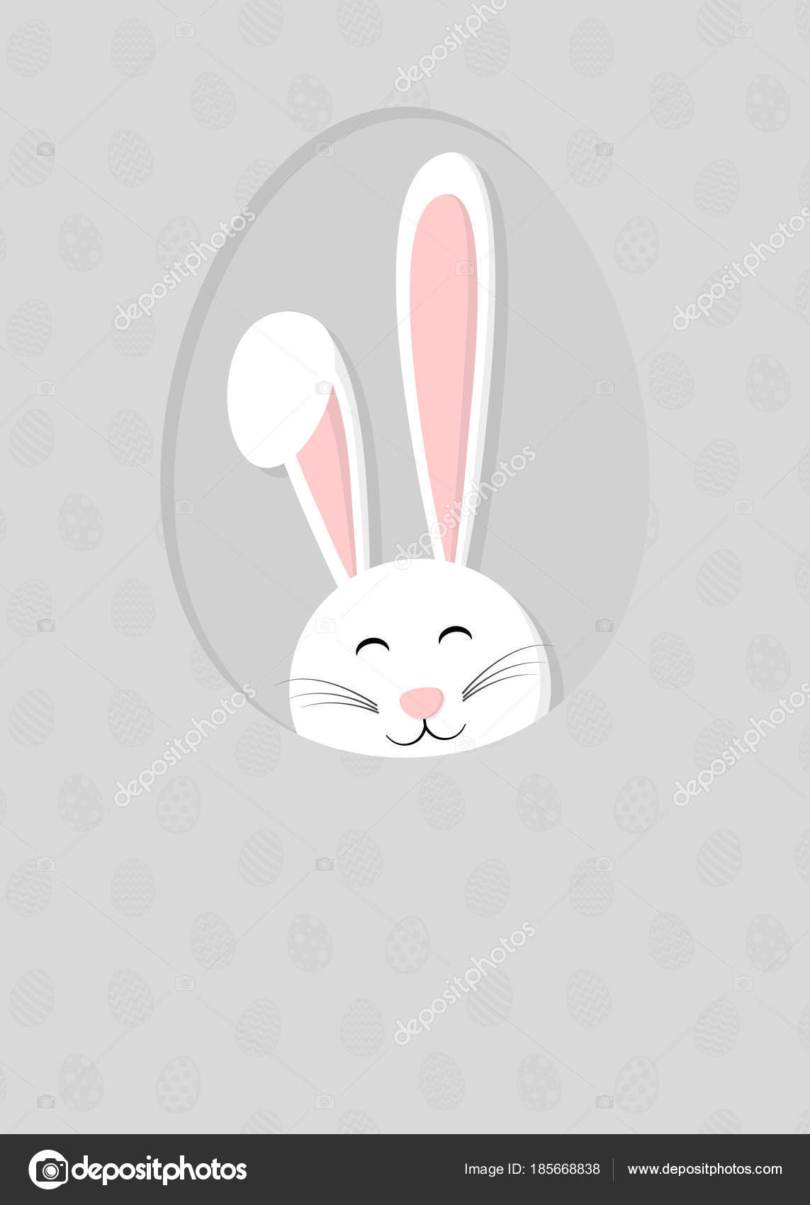 Cute Easter Bunny Ears Background Eggs Easter Background Copyspace ...