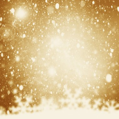 Christmas Background. Golden Holiday Abstract Glitter Defocused