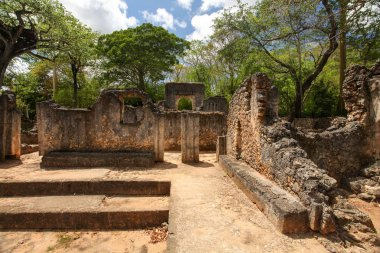 Remains of ancient african city Gede (Gedi) in Watamu, Kenya