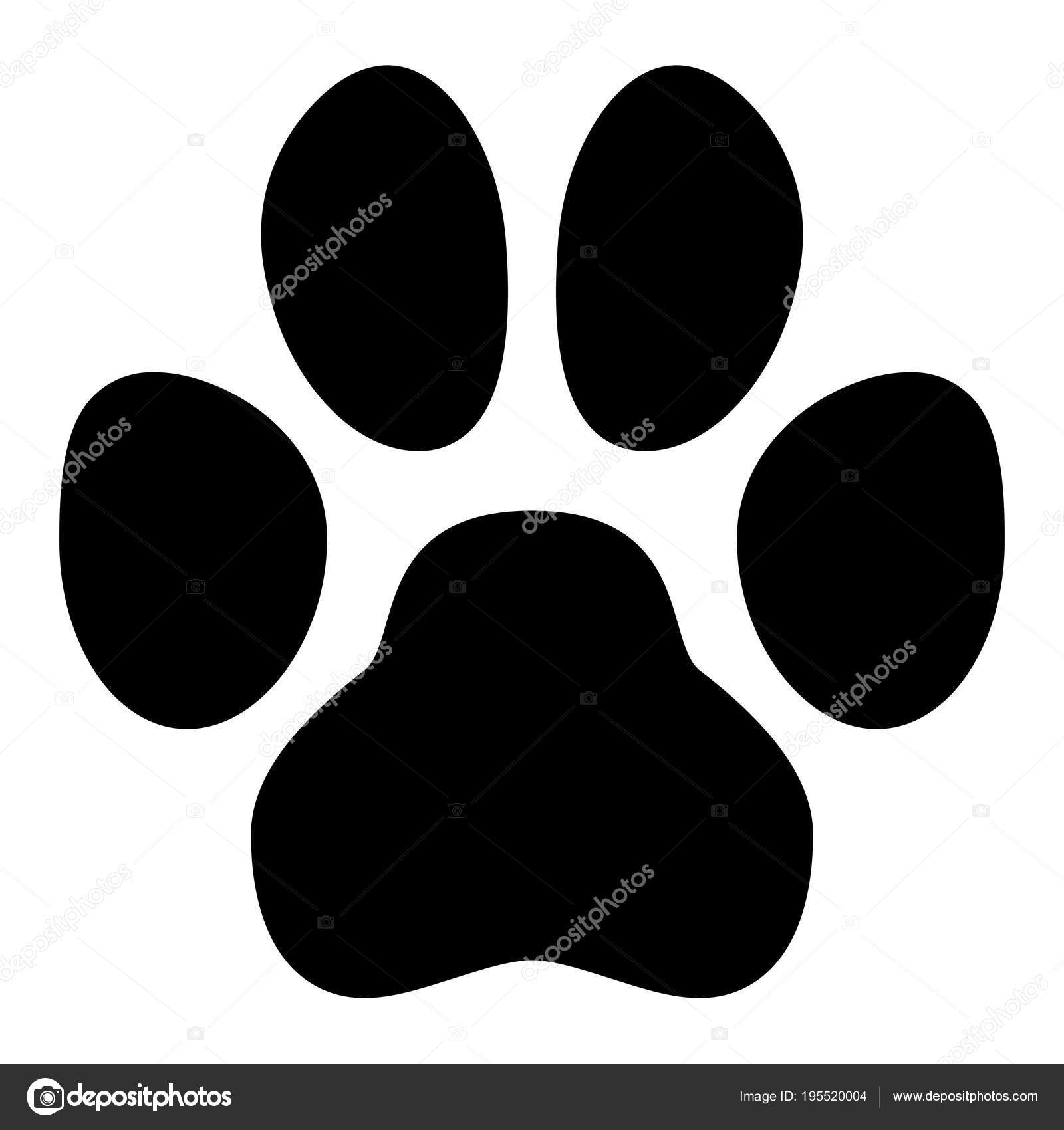 Simbolo Huella De Perro Símbolo De La Pata Del Animal Doméstico