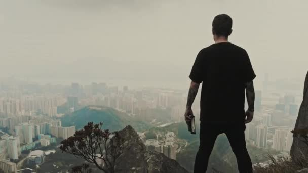 Hongkong aerial drone view
