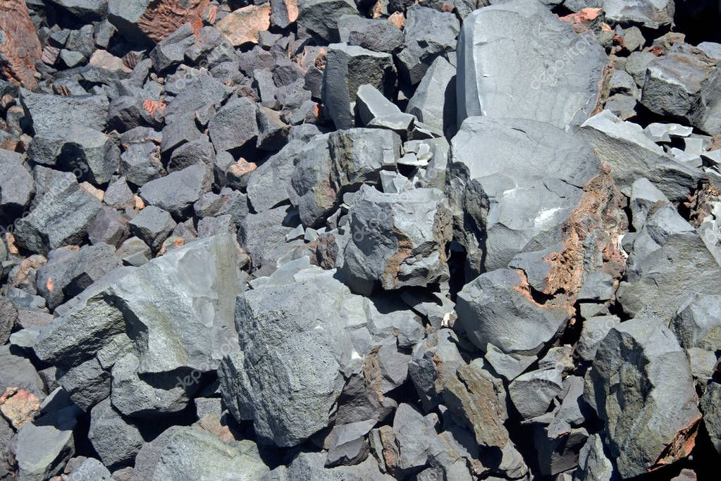 Old Lava Stone in the Peak of the Furnace Caldera, Reunion, France