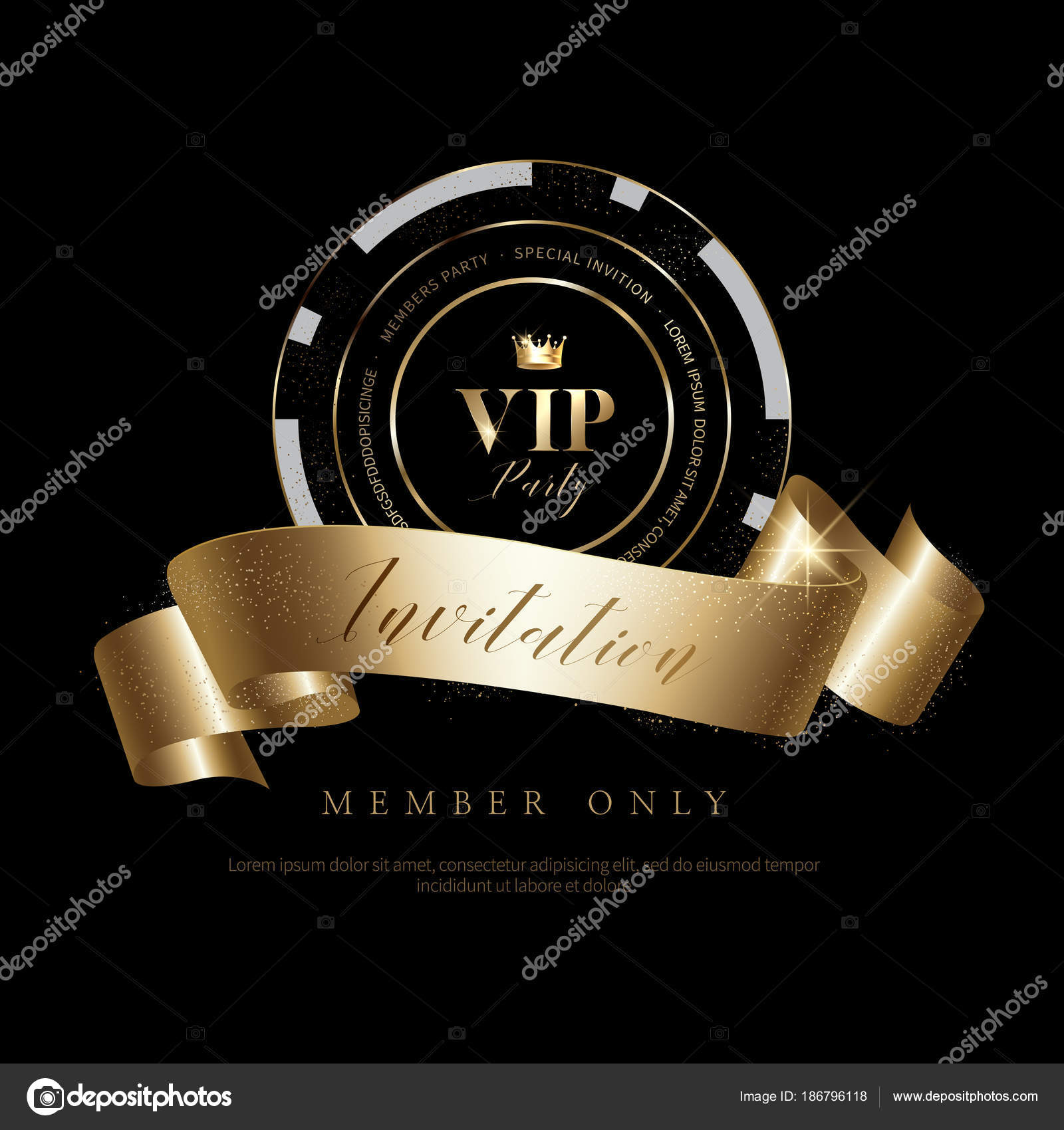 Luxury Vip Invitations Coupon Backgrounds Stock Vector LHG