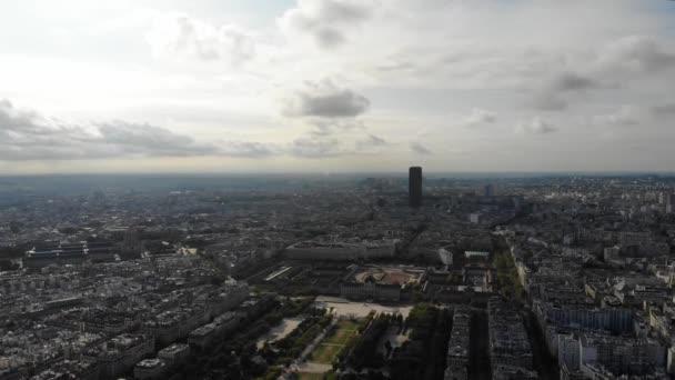 Trocadero Paris aerial view drone